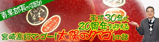 平成30年に20周年を迎える宮崎高級マンゴー「太陽のタマゴ」の話