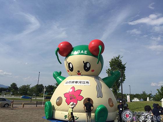 山形県サクランボ産地訪問記_ゆるキャラ「チェリン」発見!