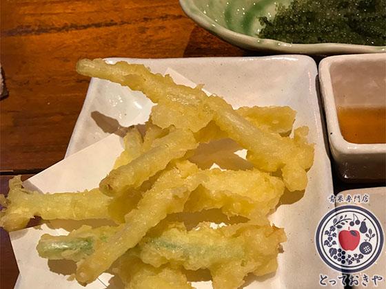 青果部長の沖縄訪問記_島らっきょうの天ぷら