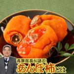 あんぽ柿とは。干し柿の一種「あんぽ柿」の特長を青果部長が語る